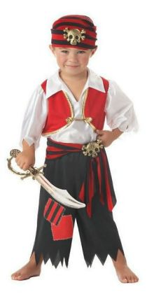 Ahoy Matey! Pirate Toddler Costume: Size Toddler (4-6)