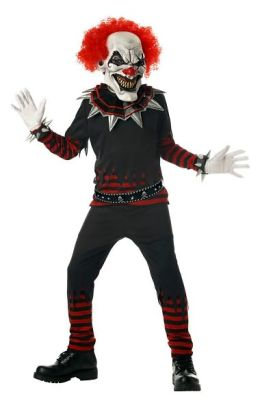 Evil Clown Child Costume: Size Medium (8-10)