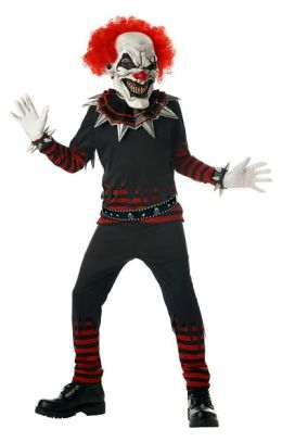 Evil Clown Child Costume: Size X-Large (12-14)