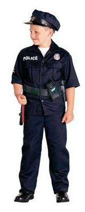 Police Officer Child Costume: Size Medium (8-10)