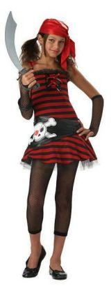 Pirate Girl Tween Costume: Size X-Large (12-14)