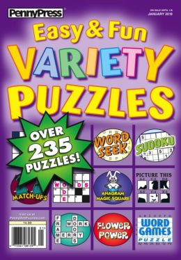 Approved Easy & Fun Variety Puzzles - One Year Subscription