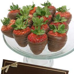 12 Classic Belgian Milk Chocolate Covered Strawberries