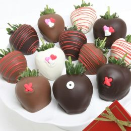 12 XOX Belgian Chocolate Covered Strawberries