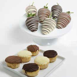 12 pc. Chocolate Covered Strawberries & Mini-Cheesecakes Assortment
