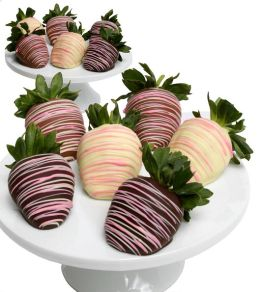 12 Pastel Belgian Chocolate Covered Strawberries