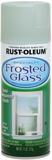 Frosted Glass Semi-Transparent Finish Aerosol Spray-Sea Glass - 11 Ounces