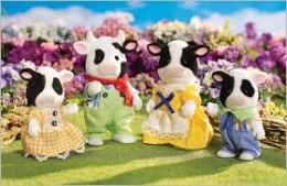 Calico Critters - Fresian Cow Family