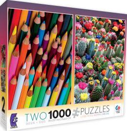 Pencils & Cactus 2 in 1 1000 Piece Multi Pack