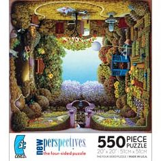 New Perspectives Four-Sided Puzzle - Krysla''s Gardens: 550 Pcs