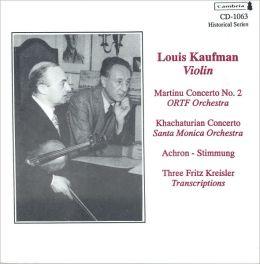 Martinu Concerto No. 2; Khachaturian: Concerto, etc.