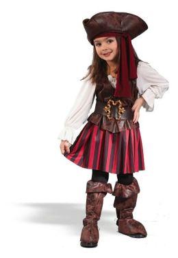 High Seas Buccaneer Girl Toddler Costume: Size Toddler (24M-2T)