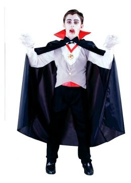 Classic Vampire  Child Costume: Size Standard One-Size