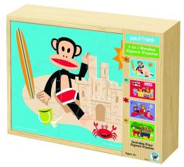 Paul Frank 4 in 1 Wooden Jigsaw Puzzle
