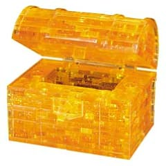 Crystal Puzzle Gold Treasure Chest