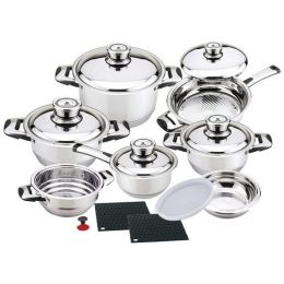 Chef' 16 Pc Stainless Steel Cookware