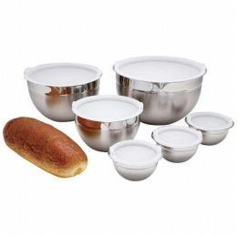 Chefs Secret 12Pc Ss Mixing Bowl Set