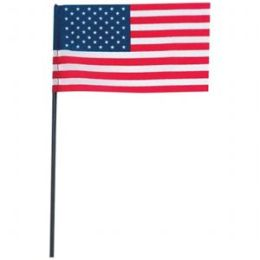 100 Pc 4X6 Usa Flag With Pole