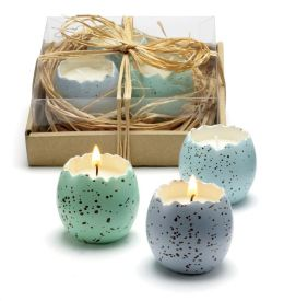 Cracked Egg Candle in a Nest Set of 3