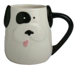 White Dog with Black Eye Patch Mug