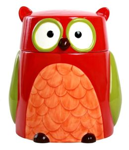 Ceramic Owl Cookie Jar