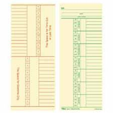 Tops Business Forms TOP12603 Time Cards- 150lb.- Named Days- 3-.38in.x8-.25in.- 100-PK