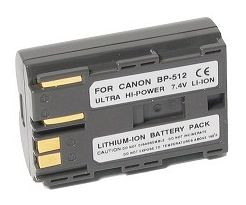 Power2000 ACD-674 Replacement Battery for Canon BP 512