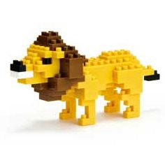 nanoblock Micro-Sized Building Block Set, Lion