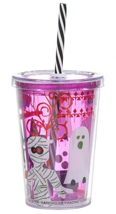 Haunted Graveyard Tumbler with Straw 10 oz.
