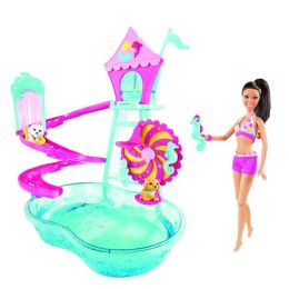 BARBIE Puppy Water Park with Barbie Doll Playset - African American