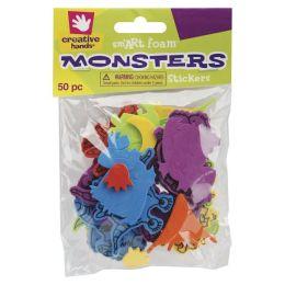 Foam Stickers 50/Pkg-Monsters