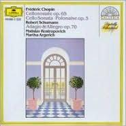 Frédéric Chopin: Cellosonate Op. 65; Polonaise Op. 3; Robert Schumann: Adagio & Allegro Op. 70