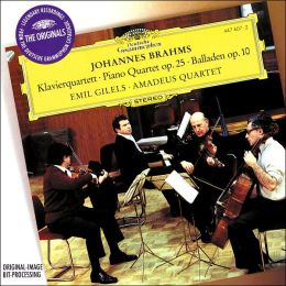 Brahms: Piano Quartet No. 1, etc.