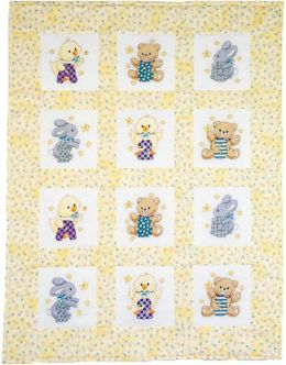 ABC 123 Quilt Blocks Stamped Cross Stitch -9