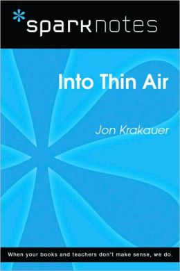 Into Thin Air (SparkNotes Literature Guide Series)