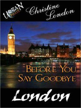 Before You Say Goodbye