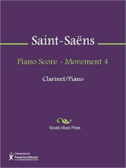 Piano Score - Movement 4