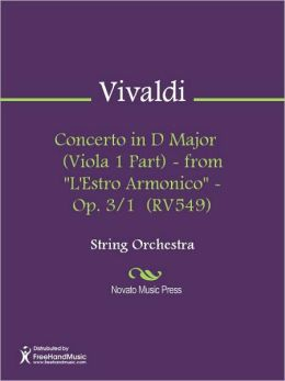 Concerto in D Major (Viola 1 Part) - from
