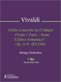 Violin Concerto in D Major (Viola 1 Part) - from