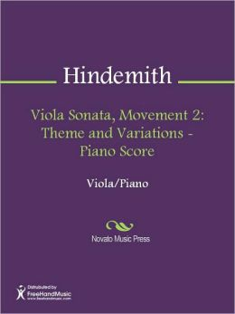 Viola Sonata, Movement 2: Theme and Variations - Piano Score