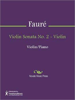 Violin Sonata No. 2 - Violin