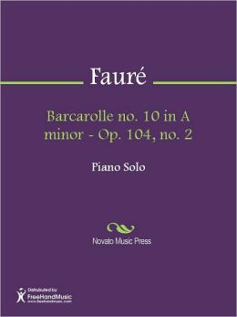 Barcarolle no. 10 in A minor - Op. 104, no. 2