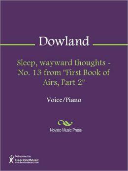 Sleep, wayward thoughts - No. 13 from