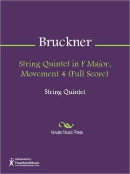 String Quintet in F Major, Movement 4 (Full Score)