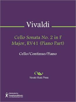 Cello Sonata No. 2 in F Major, RV41 (Piano Part)