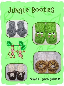 Jungle Booties Crochet Pattern