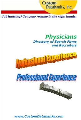 Physician eBook Directory of Search Firms and Recruiters