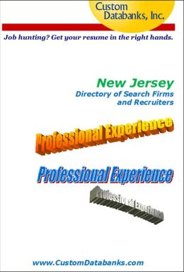 New Jersey eBook Directory of Search Firms and Recruiters