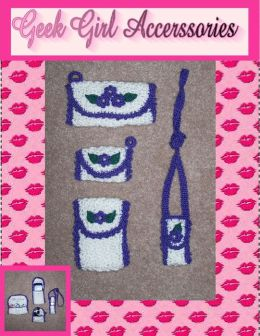 Geek Girl Accessory Holders Crochet Pattern