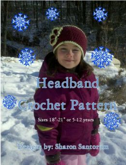 Girls Wide Buttoned Headband Pattern